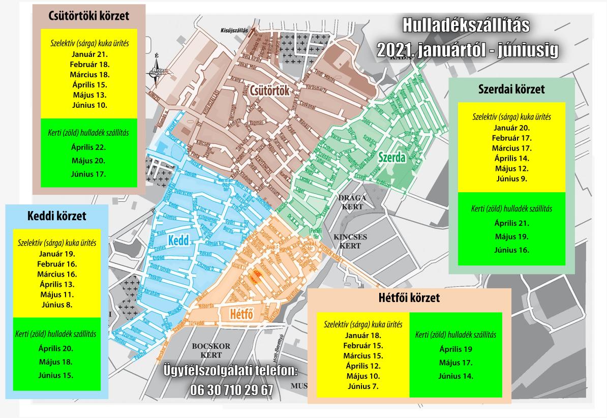 Hulladékszállítási térkép 2021. első félév